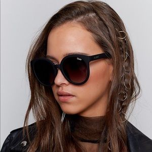 Quay High Tea Black Mirrored Sunglasses